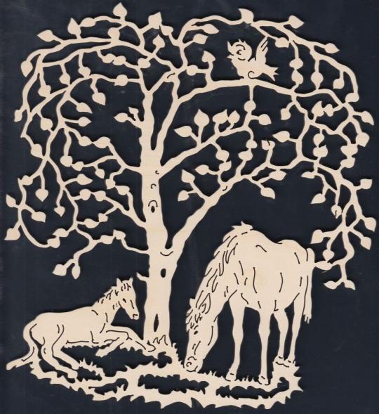 FBA 233 Baum mit Pferden