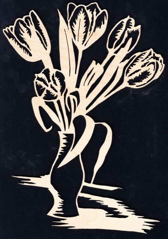 FBA 274 Vase mit Tulpen