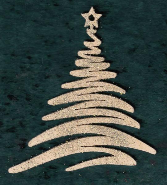 FBW 566-g Weihnachtsbaum modern Krippe im Stern