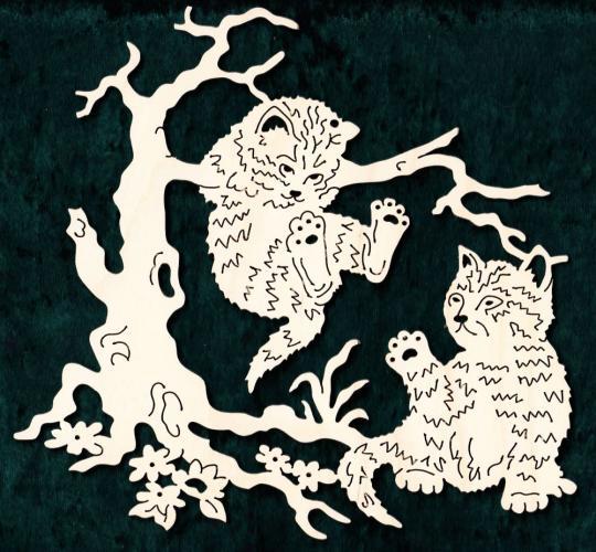 FBA 227 Zwei Katzenkinder
