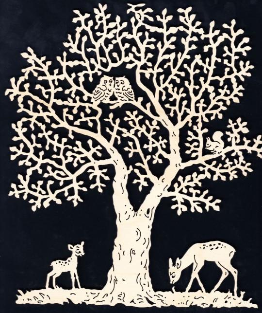 FBA 234 Baum mit Rehe