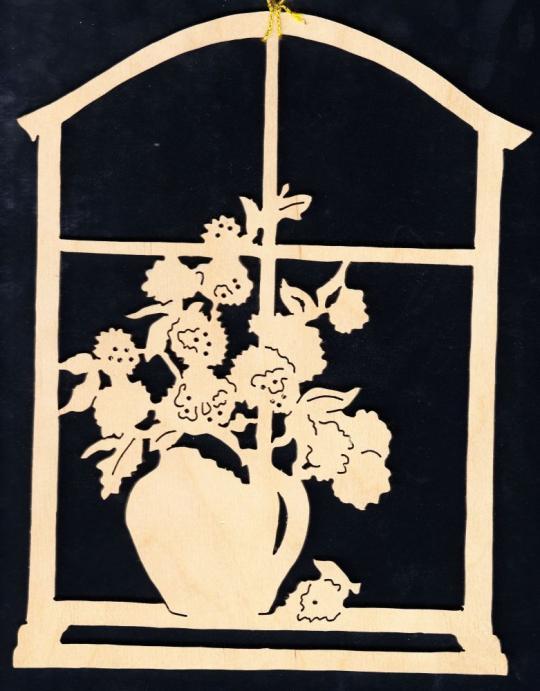 FBA 111 Blumenvase am Fenster