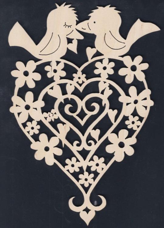 FBA 254 Blütenherz mit Vogelpaar