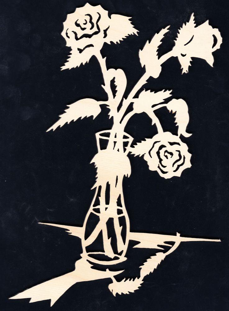 FBA 273 Vase mit Rosen