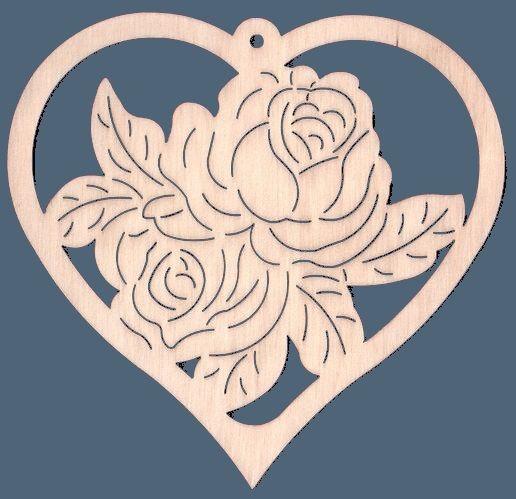 FBA 280 Herz mit Rose