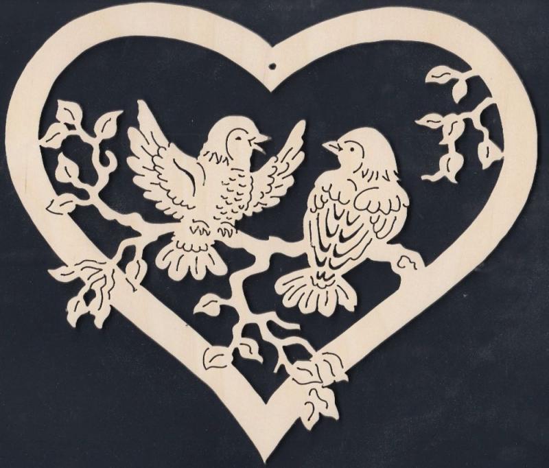 FBA 282 Herz miz zwei Vögel