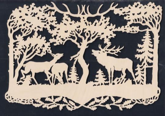 FBA 113 Hirsche im Wald