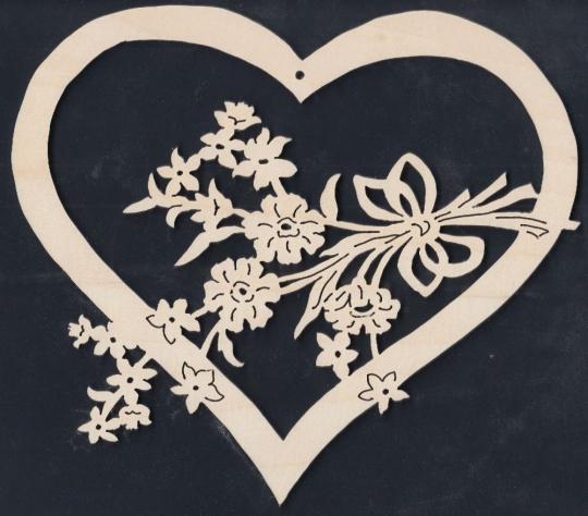 FBA 283 Herz mit Blumen