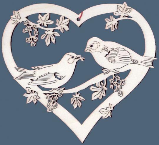 FBA 284 Herz mit Vogelpaar