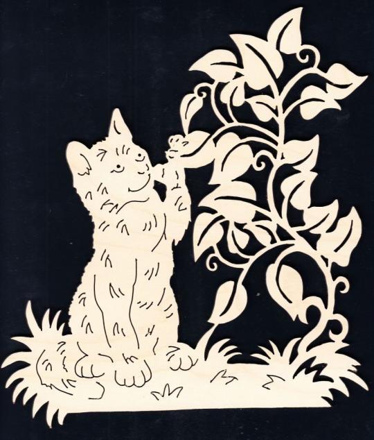FBA 298 Katze mit Zweig