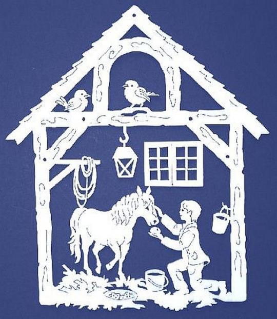 FBA 327 Haus mit Pferdejunge