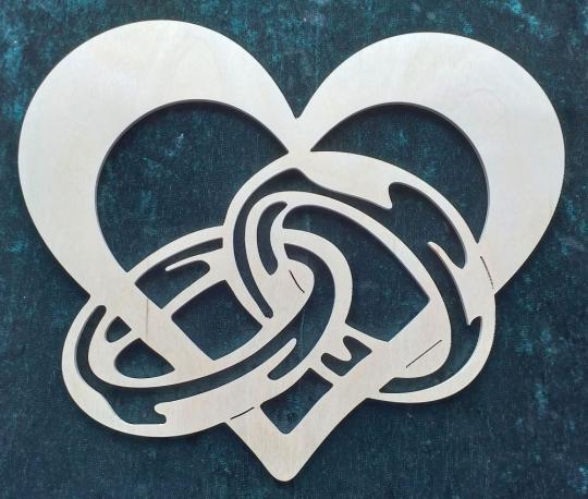 FBA 330 Herz mit Ringpaar