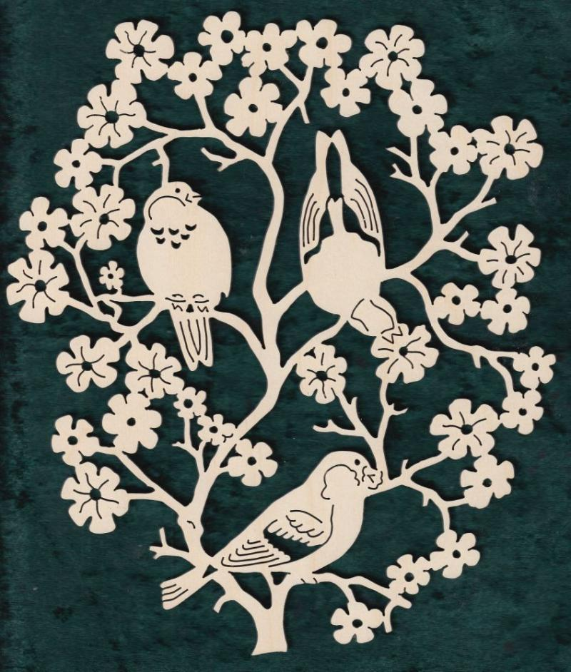 FBA 333 drei Vögel im Zweig