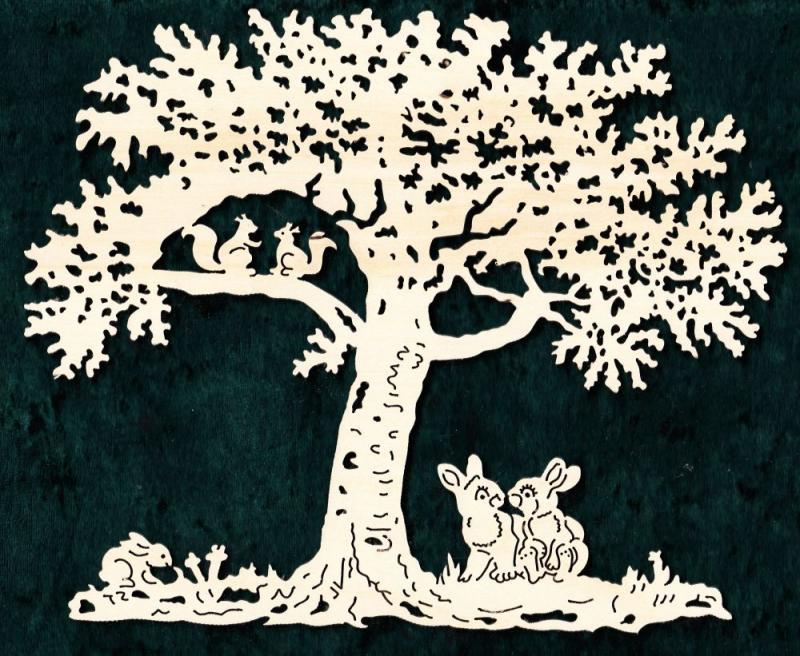 FBA 352 Baum mit Hasen