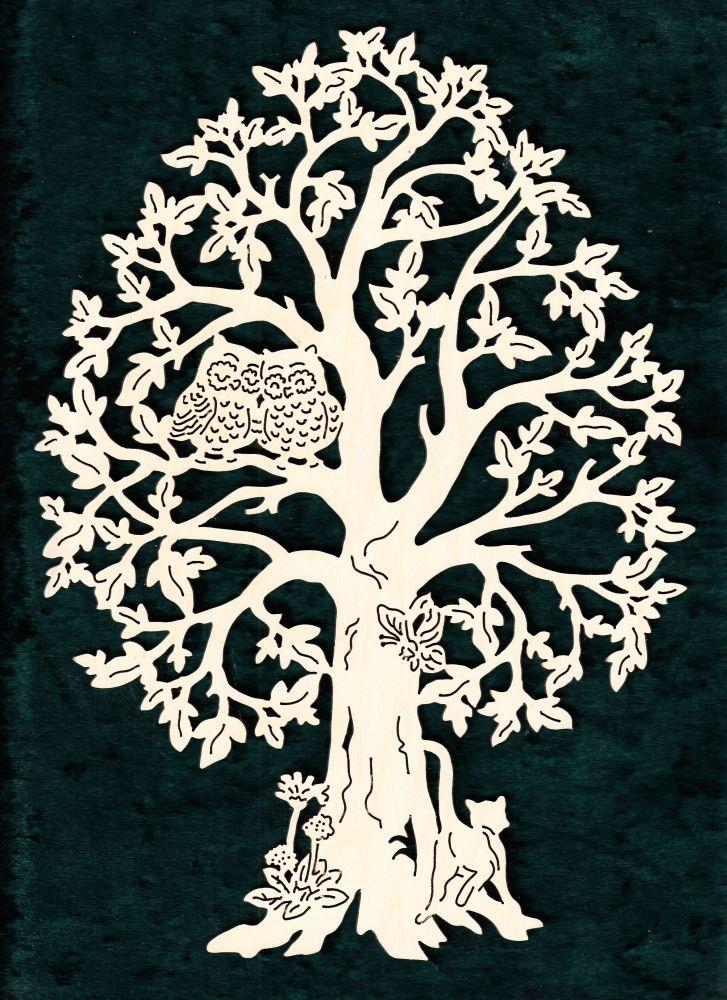 FBA 351 Baum mit Eulenpaar