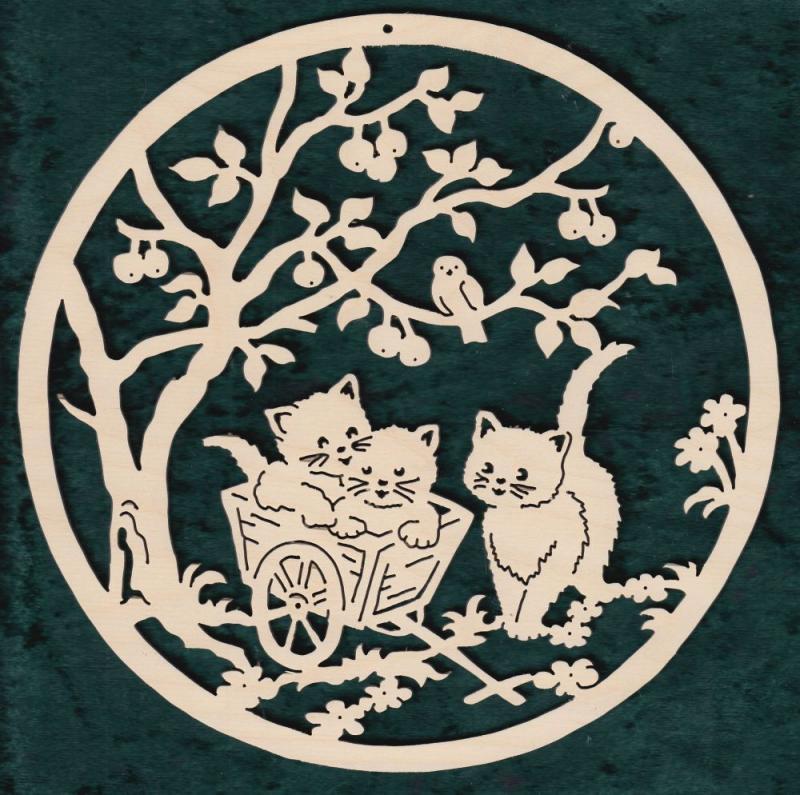 FBA 355 Drei Katzen mit Wagen rund