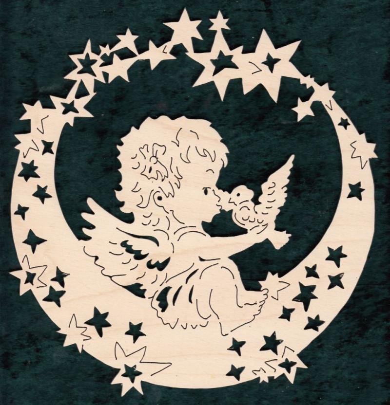 FBW 607 Sternenmond mit Engel und Vogel