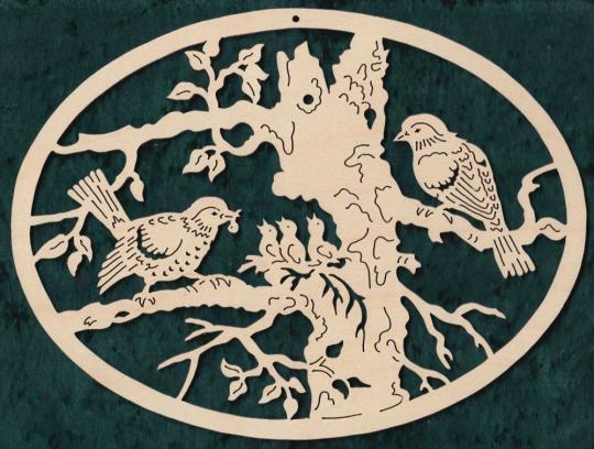 FBA 125 Vogelfamilie oval