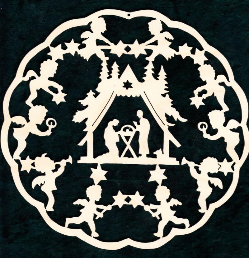 FBW 564 Krippe mit Engel im Wellemkranz Sternenengel