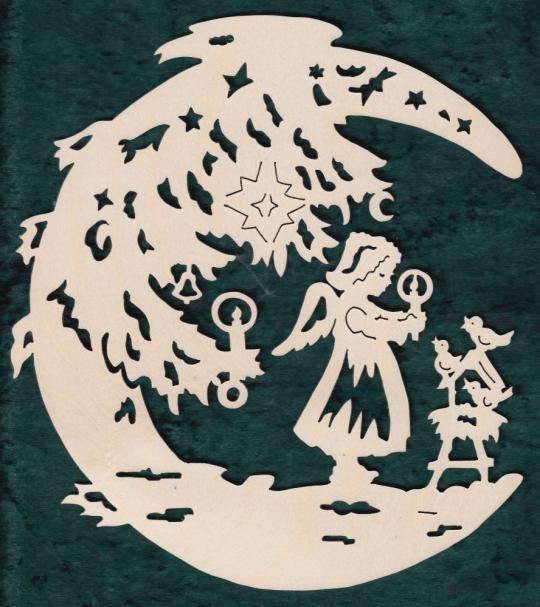 FBW 594 Mond mit Engel und Vogelhaus
