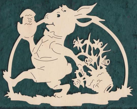 FBO 012 Hase mit einem Schlüpfküken