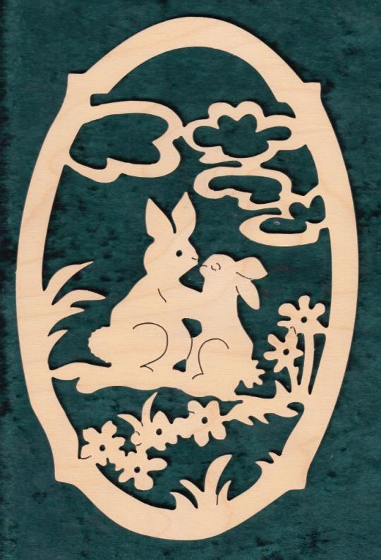 FBO 020 Hasenpaar oval