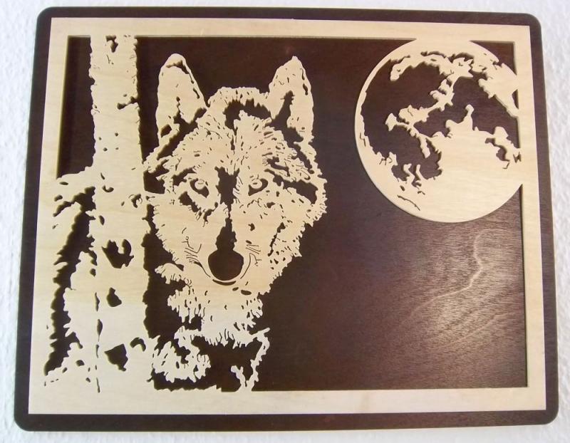 WB 003 Wolf mit Mond