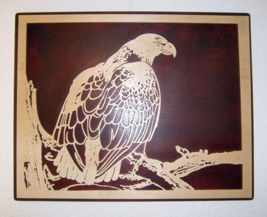 WB 017 Adler auf Ast