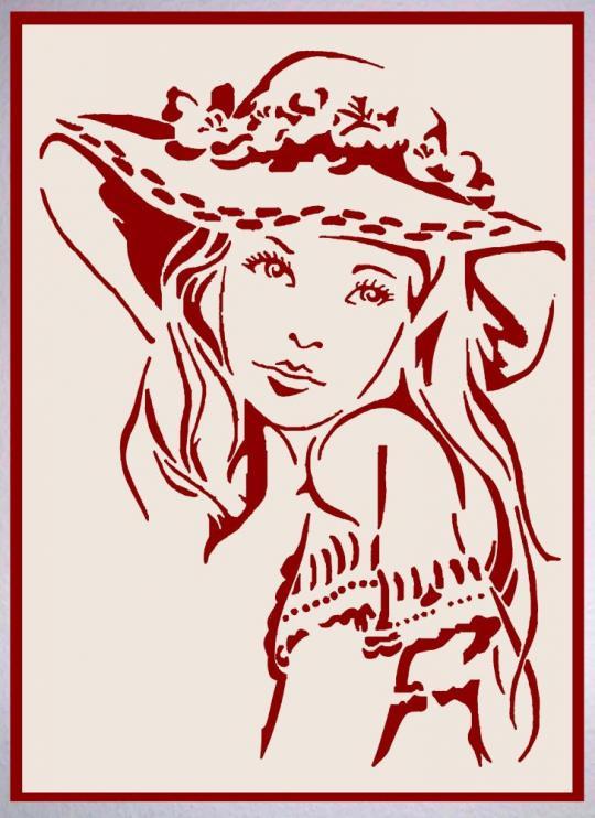 WB 031 Mädchen mit Hut