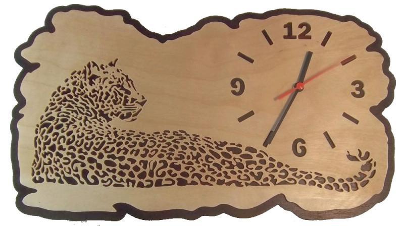 U 001 Designwanduhr Leopard