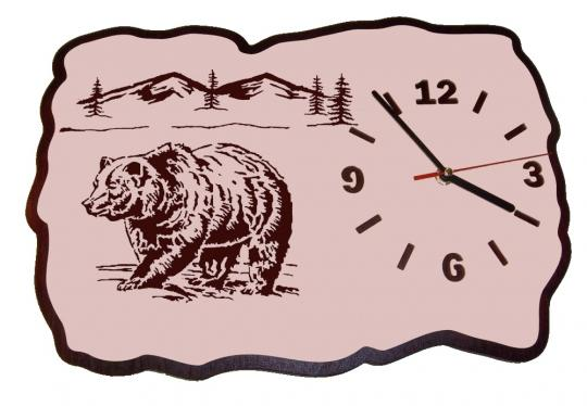 U 008 Designwanduhr Bär