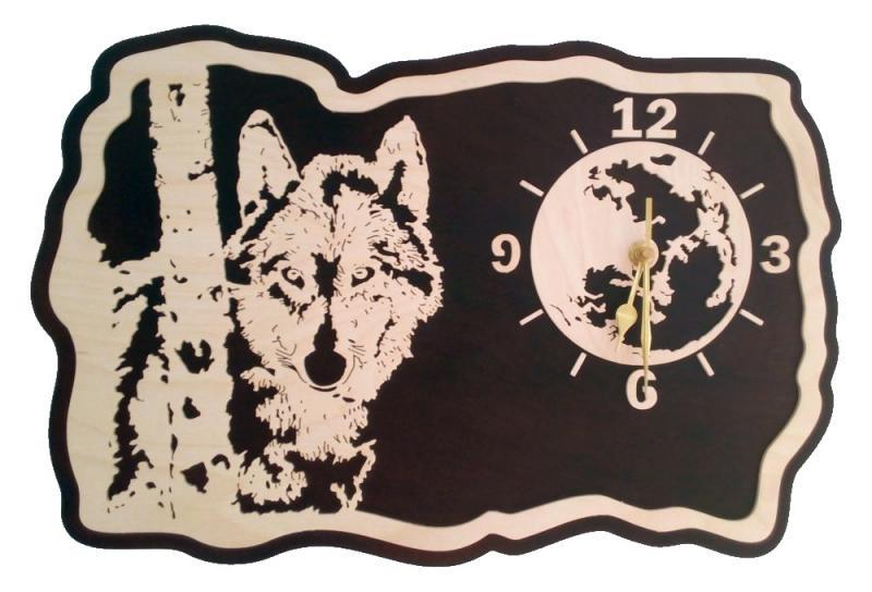 U 021 Designwanduhr Wolf