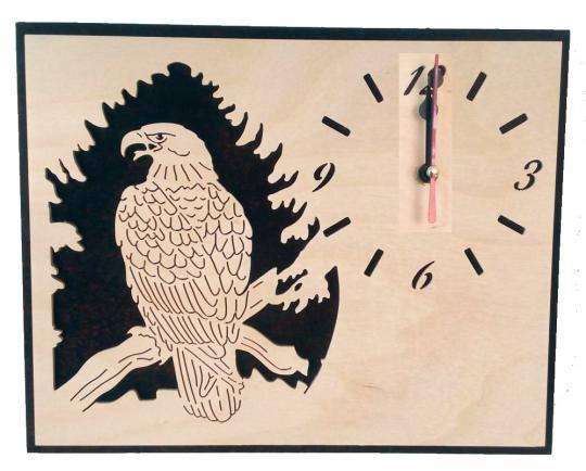 U 019 kleine Wanduhr mit Adler