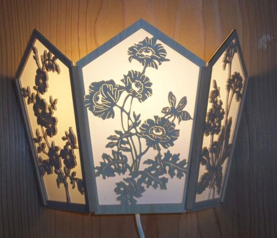 LW 020 Wandleuchte Floral