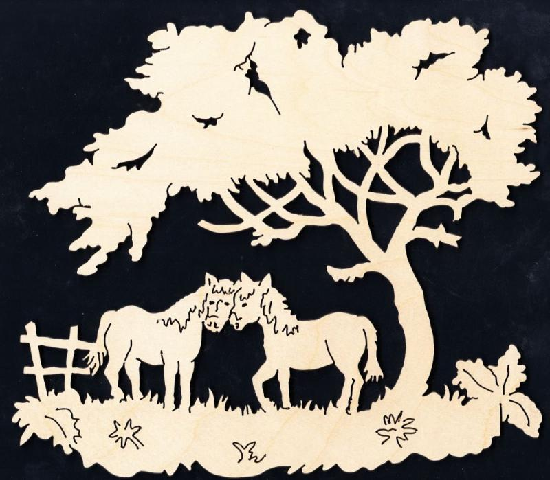 FBA 157 Zwei Pferde unterm Baum