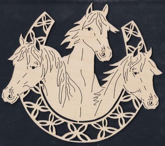 FBA 159 Hufeisen mit 3 Pferdeköpfen