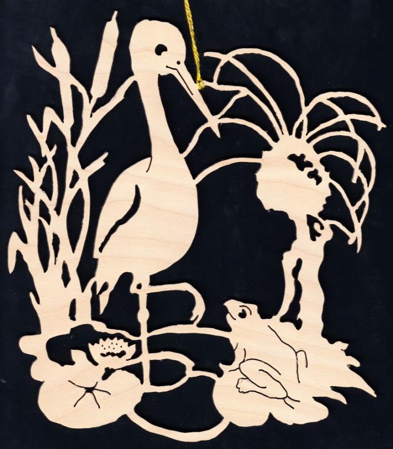 FBA 173 Storch mit Frosch