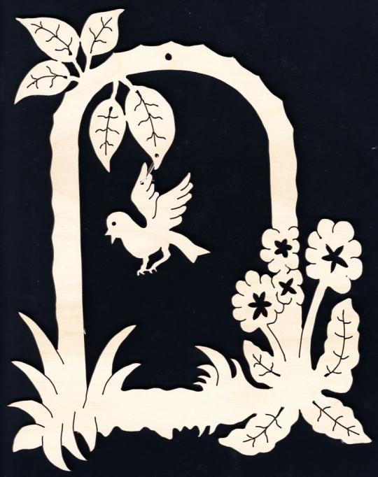 FBA 177 Blütenbogen mit Vogel