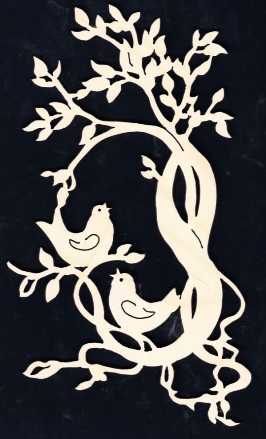 FBA 182 Zweig mit zwei Vögel