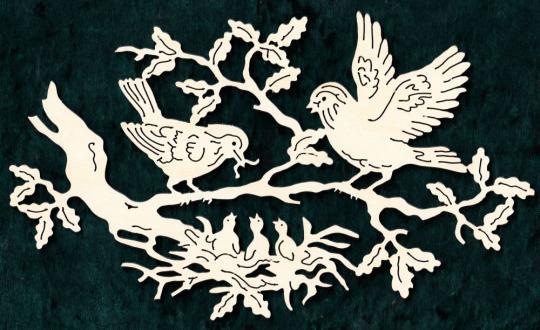 FBA 187 Vogelpaar mit Nest