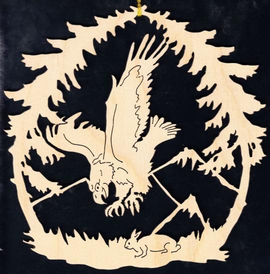 FBA 202 jagender Adler mit Hase