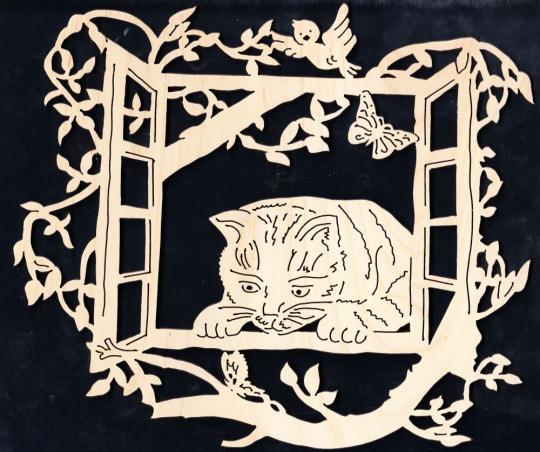 FBA 228 Katze am Fenster