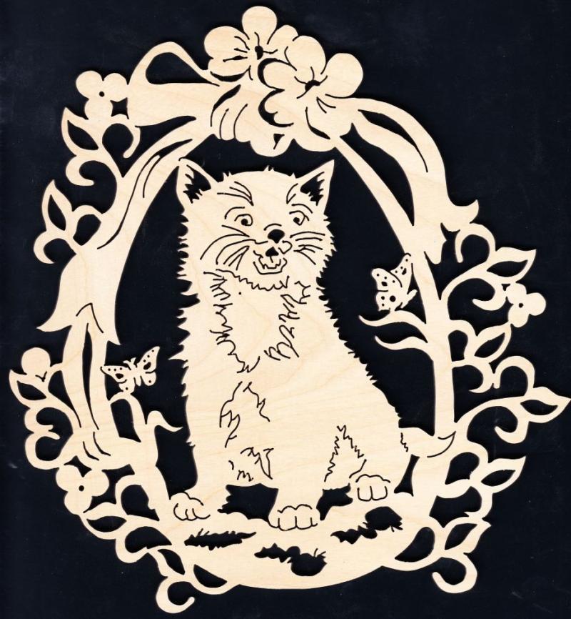 FBA 230 Katze im Blütenkranz