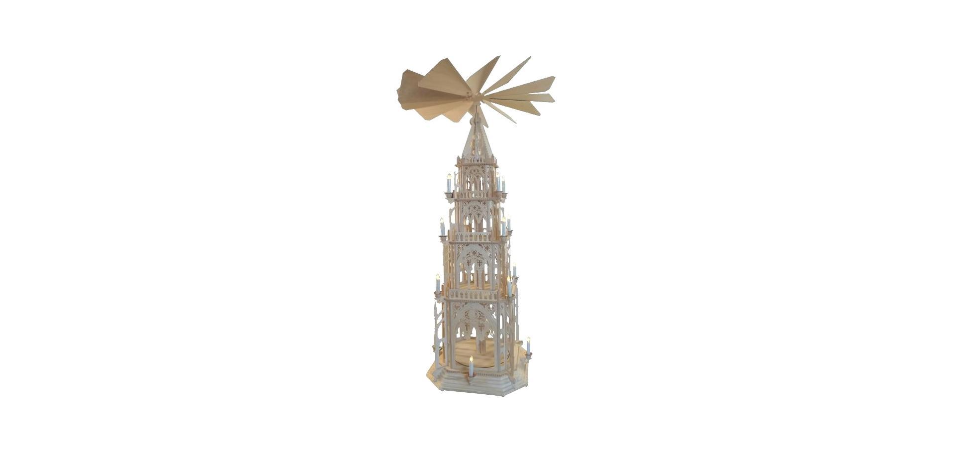 Weihnachten, Pyramide, Gothisch, Erzgebirge, Holzkunstatelier