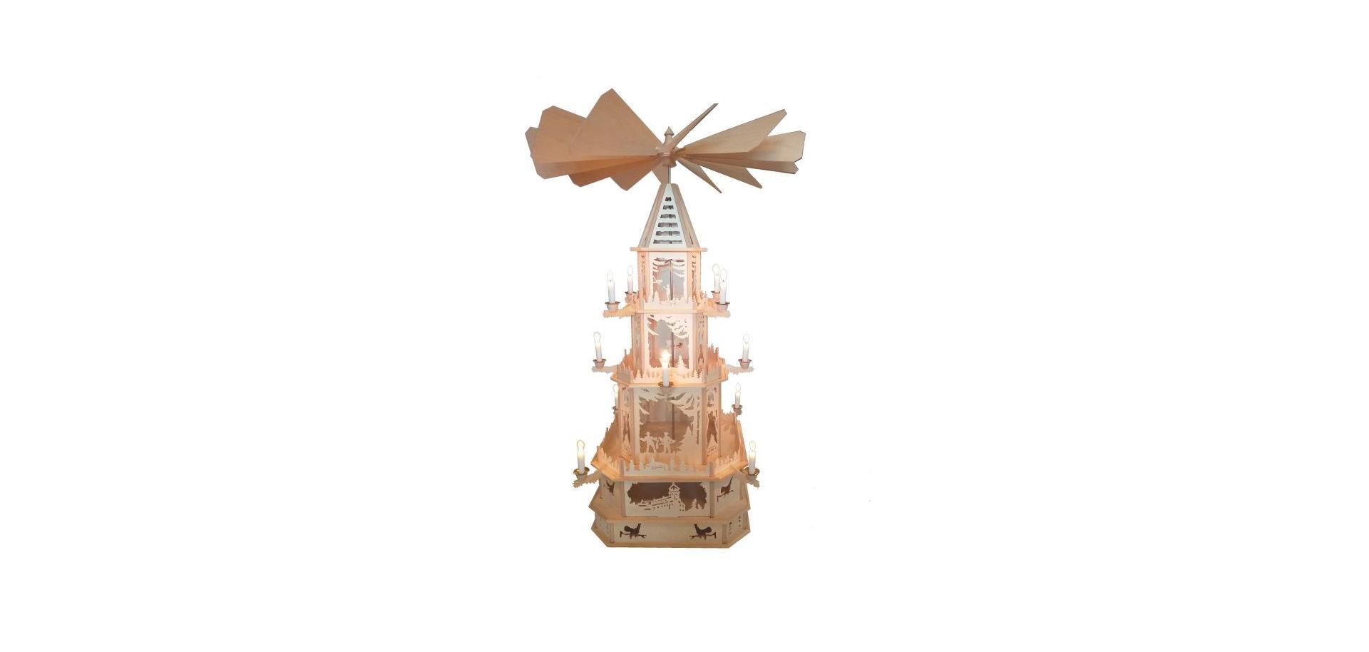 Weihnachten, Pyramide, Erzgebirge, Holzkunstatelier